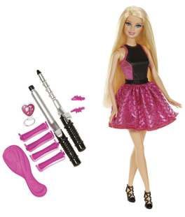 barbie boucles glamour