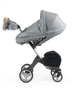 Stokke Stroller Winter Kit Cloud Grey with Xplory chassis 8