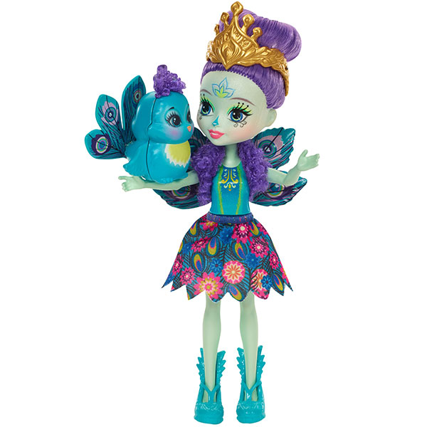 2017-mattel-enchantimals mini poupee patter paon
