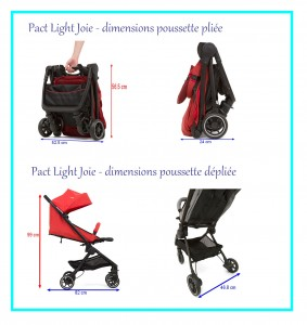 dimensions poussette pact light Joie
