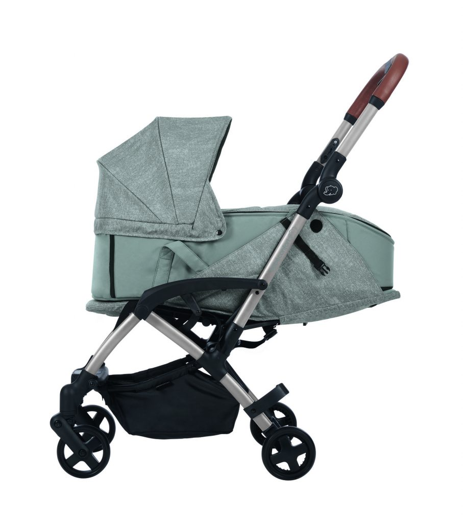bebeconfort stroller travelsystem laika grey nomadgrey sidewithbassinet side bassinet carrycot withotherproduct